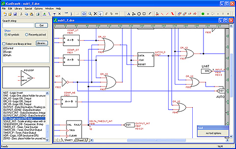 Screen shot from i.CanDoIt graphical programming tool used to create control programs for the VP4-2090 Cellular/Satellite Remote Telemetry Unit