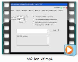 BB2-2011 Video - Configure from XIF file
