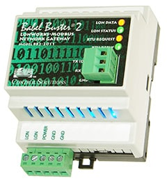 BB2-2011 Modbus RS-232 to LonWorks Gateway